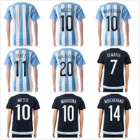 argentina soccer team - Womens MESSI Jerseys Champion Argentina World Cup Soccer Jerseys Top Thailand Quality Female Soccer Shirts National Team Football Kits