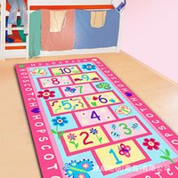 Wholesale Children carpet embroidery digital letter flowers fleece blanket nylon size cm Baby blankets newborn