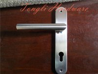 interior door handles - 2015 new promotion for stainless steel L shape long room interior door handle factory direct selling