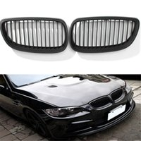 Wholesale Pair Black Matt Grille Grill For BMW Series E92 E93 Coupe Cabriolet Kidney New