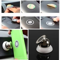 Wholesale Car Phone Holder for Samsung iPhone HTC LG Blackberry Smartphones Magnetic Universal Degree Roating Magnets Mobile Holder