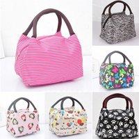 Wholesale 2015 New Zipper Dacron Casual Women Kids Lunch Bag Outside Pinic Food Packaging Handbag Tote ZB0172