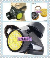 Cheap Free shipping Industrial Gas Chemical Anti-Dust Paint Filter Respirator Safety Mask Black Wholesale 120pcs