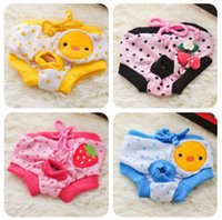 dog diapers - Cheap sales style Female Pet Dog Puppy Sanitary Cute Short Dog Panty Pant Striped Underwear Diaper for dog