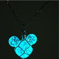 Wholesale 2014 colors LED FLASH NEW Mickey necklace Pearl jewelry Novelty gift concert d night light ornaments for christmas party topB813