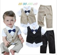 Cheap baby clothing set Best baby boy casual suit