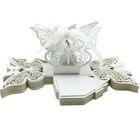 boxes for candy - 50pcs Laser Cut Butterfly Wedding Favor Box in Pearl color Candy Boxes for Wedding Party Candy Favor Gift