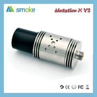 Precio de Tanque de mutación-Nuevo Ecig atomizador mutación X V3 mod 22mm enorme vapor cera / hierba seca atomizador acero inoxidable tanque de cobre ecigarettes al por mayor