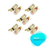 banana terminal - 10pcs Gold Plated Binding Post Audio Amplifier terminal Banana Plug connector