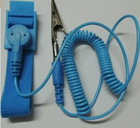 Wholesale 100pcs blue Anti Static ESD Wrist Strap Discharge Band