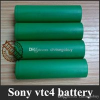 Wholesale Authentic sony vtc4 mah battery us18650 vtc batteries for sigelei w istick w ipv d2 s subox mini evic vt snowwolf w