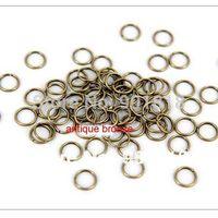 Wholesale 8mm diameter bag rhodium Tone Jump Rings jewelry making Findings F309