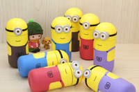 Wholesale Hot Creative cartoon Minions glass stainless steel vacuum stainless steel thermos cup thermos flask ML style colors
