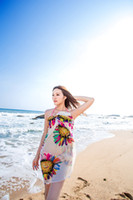 Wholesale Sun flower Women s Bikini Cover up Scarf Sarong Cover Up Miss Swimwear Beach Scarf Pareo Dress Skirt Beach Chiffon Wrap