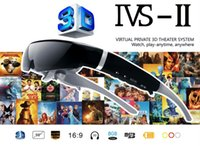 Wholesale 3D Video Glasses IVS II Portable inch Virtual Screen Personal Cinema Support P GB Free DHL