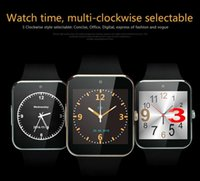Wholesale 2016 NEW Android iPhone iwatch A8 GT08 Smart SIM Intelligent mobile phone watch can be time record the sleep state GT08 Smartwatch