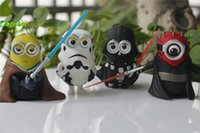 resin figure - 2016 Hot Selling Minions Cosplay Star Wars Action Figures Despicable Me Minions Dolls Resin Figure Brinquedos Anime Toys Gifts with DHL free