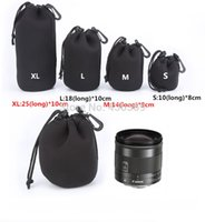 Wholesale 4 Four Size Waterproof Neoprene Soft Camera Len Pouch Bag Case XL L M S OEM