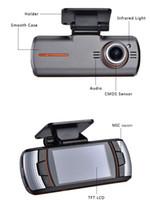 al por mayor dvr del coche dual externa-Cámara libre del coche DVRS de DHL dual lens1920x1080p 20FPS 2.7 'Cámara trasera externa IR Allwinner Dashcam DVR de la cámara original ls650W