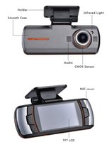 Wholesale DHL Free Car DVRS Dual Camera lens1920x1080p FPS LCD External IR Rear Camera Allwinner Dashcam Car DVR Original ls650W
