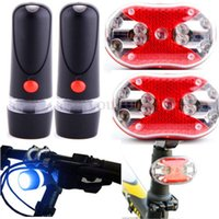 Wholesale 2x Bicycle Bike Cycling Lamp LED Front Head Light LED Rear Safety Light