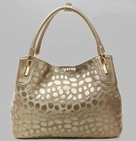 Wholesale fashion stone print genuine leather handbags women famous brands designer vintag