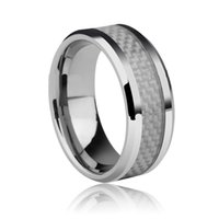 american west jewelry - New Hot Sale West Fashion jewelry Top grade tungsten Classic Rings white Carbon Fiber Male ring for men