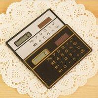 Wholesale 2015 Hot Sale Direct Selling Informatica School Calculator Calculadoras F098 Slim Card Calculator Solar Z00364