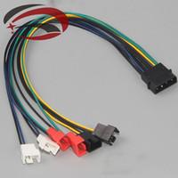Wholesale PC DIY pin IDE molex to port Cooler cooling fan pin Splitter power Cable cord V V V cm