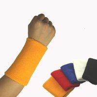 sweatbands - 8 cm Gym Protector Wristbands Cotton Weightlifting Wrist Support Sport Pulseira Wrist Brace Tennis Sweatbands Guard T005
