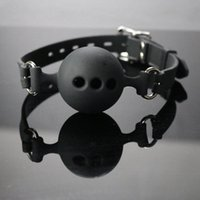 mouth gags - bdsm bondage trainer locking Ball Gag with holes Bite Mouth Gags for Women Adult Sex Toys