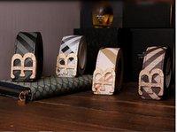 Wholesale 2015 NEW B Buckle Belts for Men and Women dress belts B Shape Metal strap Ceinture Buckle belt