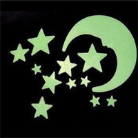 baby nursery sale - Home Wall Stickers Glow In The Dark Star Moon Stickers Decal Baby Kids Gift Nursery Room Home Decor Hot Sale New