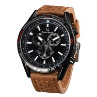 Wholesale Geneva Watches Splendid Luxury Fashion Casual Men s Watch Leather Quartz Analog Watches Brand Clock Male Casual Cool Watch