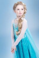 Wholesale EMS DHL little girls kids Cute Elsa Princess Tulle Easter cosplay Dress Sequin Elegant Tulle Dress
