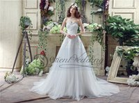 Cheap Real Picture Plus Size Lace Tulle Princess Wedding Dresses 2016 Sweetheart Lace up Wedding Gowns Bridal Gowns IN Stock