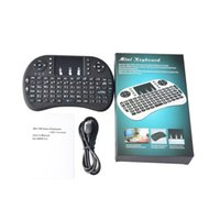Wholesale HOT Rii I8 Fly Air Mini Mouse Wireless Handheld Keyboard multi touch game Touchpad Remote Control Mini PC for android TV BOX M8S MXQ