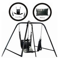 leather sex sling - BDSM Toys Leather Sex Love Swing Black Fetish Adult Swing Sling Bondage Restraints D Rings Sex Swing Chair Adult Sex Furnitures For Couples
