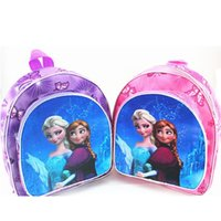 Wholesale Frozen princess Anna Elsa children bags student Polyester school bags cartoon Both shoulders backpacks mixed colour