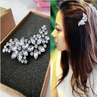 african american hair - Vintage Lady Fashion Rhinestone Flower Crystal Headband Hair Clip Comb Jewelry JH02061
