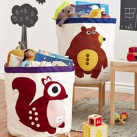 bamboo baby furniture - Baby Kids Children Room Furniture Decor Clothes Toys Books Storage Bin Squirrel Fox Elephant Raccoon Hippo
