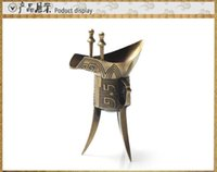 amazing crafts - Amazing souvenirs antique bronze Jue cup glass ornaments crafts gifts to send foreigners with Chinese Characteristics