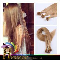 18--26 pouces Cheveux brésiliens Kératine humaine Pointe à ongles Extensions de cheveux enchevêtrement gratuit Extensions de cheveux pré-collées droites AAAA Grade