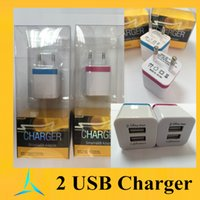 home goods - Good Package Quanlity USB Wall Charger V A A AC Travel Home Charger Adapter EU Plug For Samsung Galaxy Note in Stock