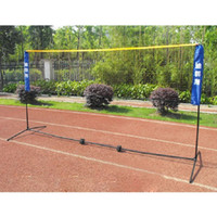 badminton net set - DKS One Set Family Portable Badminton Net Set With Stand Simple Sport Fitness Equipment Badminton Company Outdoor Indoor m
