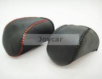 automatic shift knob covers - Interior Accessories Gear Shift Knob Genuine Leather Sewed Gear Shift Knob Cover Stitch Automatic Transmission For VW Golf MK6 GTI Jetta
