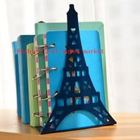 antique book ends - 2pcs Pair Large Fashion Bookshelf Eiffel Tower large metal bookend antique book ends