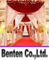 arbor decorations - customized color square canopy chuppah arbor drape with swag for wedding decoration fabric drape LLFA4466F