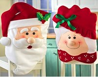 Wholesale AAAA quality Hot Sale Christmas Chair Cover Cute Indoor Decoration Santa Claus Christmas Accessories Party SuppliesLJJD356