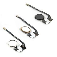 Wholesale 20PCS NEW Replacement Black Silver Gold Home Button With Flex Cable For iPhone S DHL